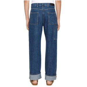 Item - Blue Distressed W Logo Patch Pocket M 40 Relaxed Fit Jeans