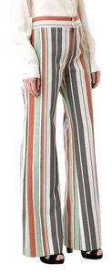 Item - Brown Striped Twill Trousers 40 Pants