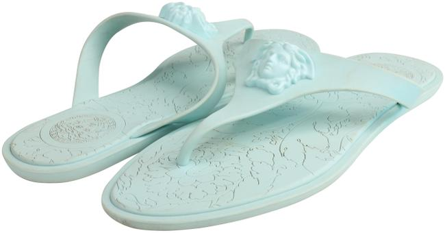 Item - Blue Women's Pink Medusa Palazzo Thong Sandals Size US 9 Regular (M, B)