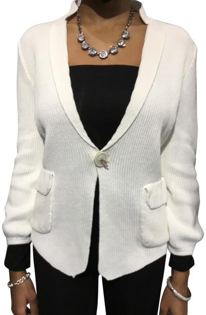 Item - Cardigan White Sweater