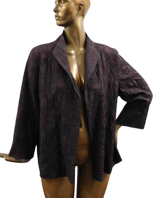 Item - Brown Embroidered Lightweight Open Jacket Size 18 (XL, Plus 0x)
