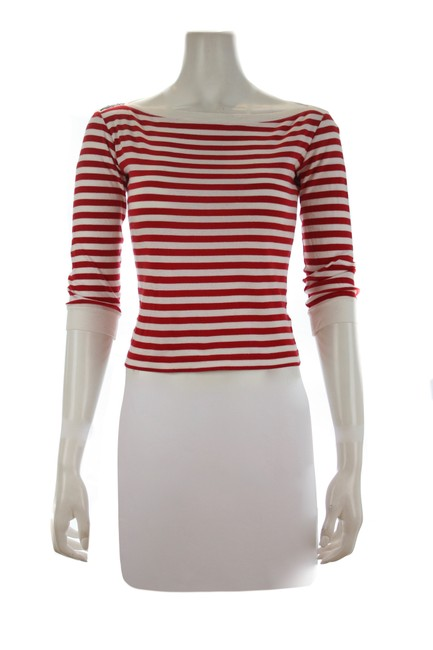 Item - Red & White XS Striped Tee Shirt Size 0 (XS)