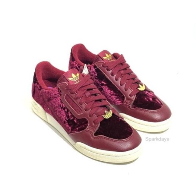 Item - Red Maroon Velvet Lace Up Low Top Continental 80 Sneakers Size US 7 Regular (M, B)