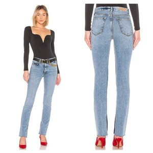 Item - Touch The Floor Light Wash Addison High Rise Split Boot Cut Jeans