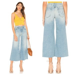 Item - Ready To Roll Light Wash The Roller Crop Fray Trouser/Wide Leg Jeans