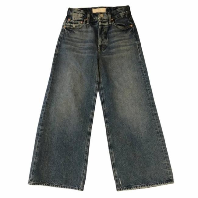 Mother Take Me Higher Medium Wash Superior The Tomcat Roller Shorty Trouser/Wide Leg Jeans Size 24 (0, XS) Mother Take Me Higher Medium Wash Superior The Tomcat Roller Shorty Trouser/Wide Leg Jeans Size 24 (0, XS) Image 2