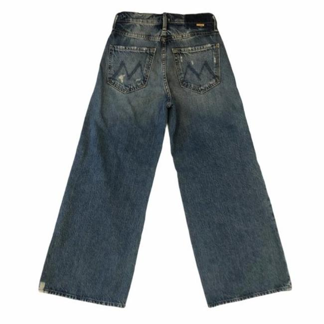 Mother Take Me Higher Medium Wash Superior The Tomcat Roller Shorty Trouser/Wide Leg Jeans Size 24 (0, XS) Mother Take Me Higher Medium Wash Superior The Tomcat Roller Shorty Trouser/Wide Leg Jeans Size 24 (0, XS) Image 3