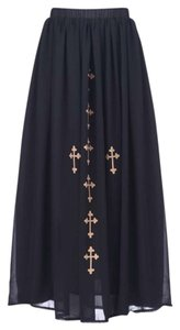 Koreo Cross Maxi Maxi Skirt Black