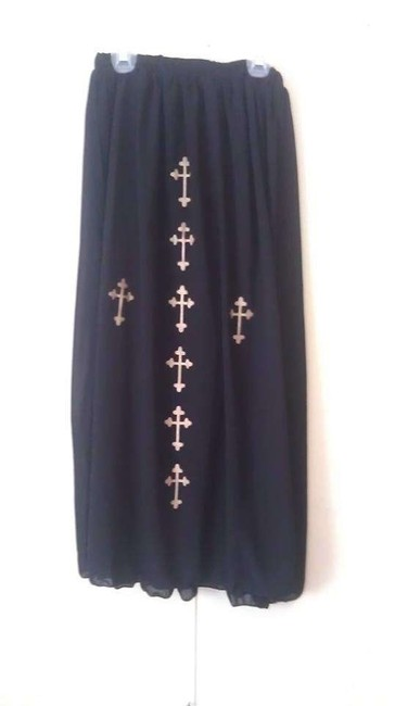 Koreo Cross Maxi Skirt Black