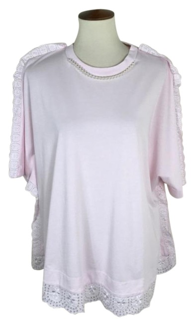 Item - Pink Faux Pearl Embellished Tee Shirt Size 12 (L)