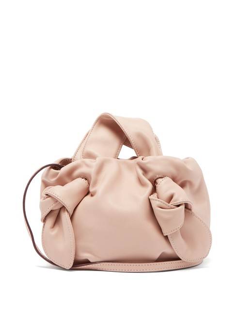 Item - Ronnie Knotted Blush Leather Cross Body Bag