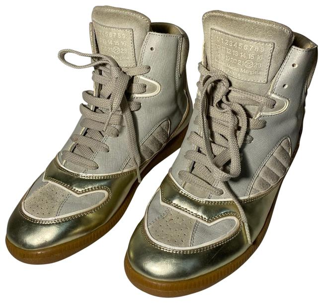 Item - Gold and Beige Sneakers Size EU 39 (Approx. US 9) Regular (M, B)