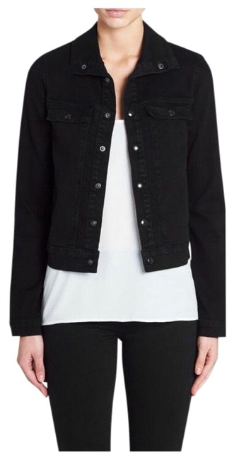 Item - Black Le Cropped Jacket Size 8 (M)