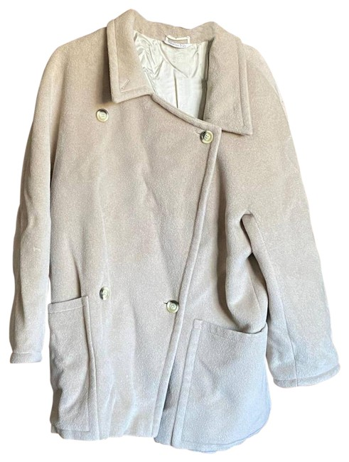 Item - Tan Wool Merino Oversized Coat Size 8 (M)