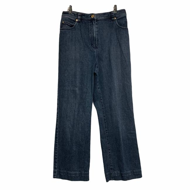 Item - Blue Medium Wash Cropped High Waisted Trouser/Wide Leg Jeans Size 26 (2, XS)