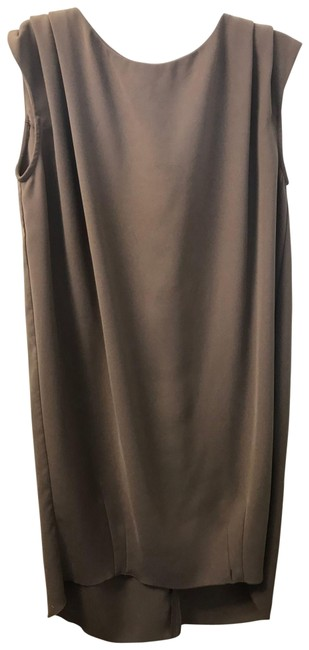 Item - Taupe Mid-length Work/Office Dress Size 2 (XS)