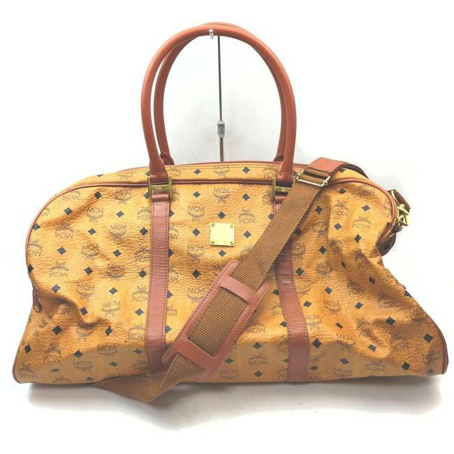 Item - Duffle Cognac Monogram Visetos with Strap 862477 Light Brown Coated Canvas Weekend/Travel Bag