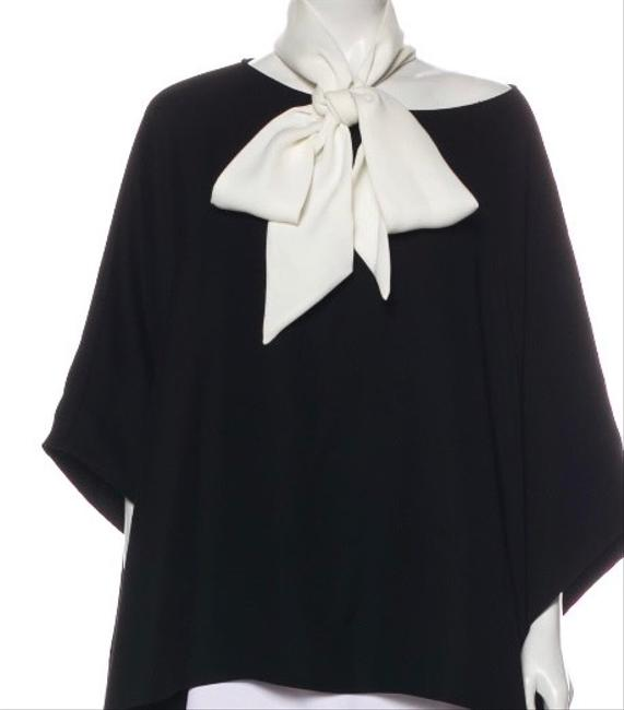 Item - Black Oversized with Neck Tie Tunic Size 10 (M)