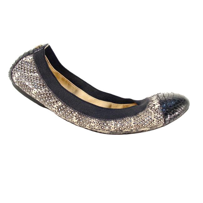 Item - Grey Lisa Snakeskin Cap Toe Ballet 7m Flats Size US 7 Regular (M, B)