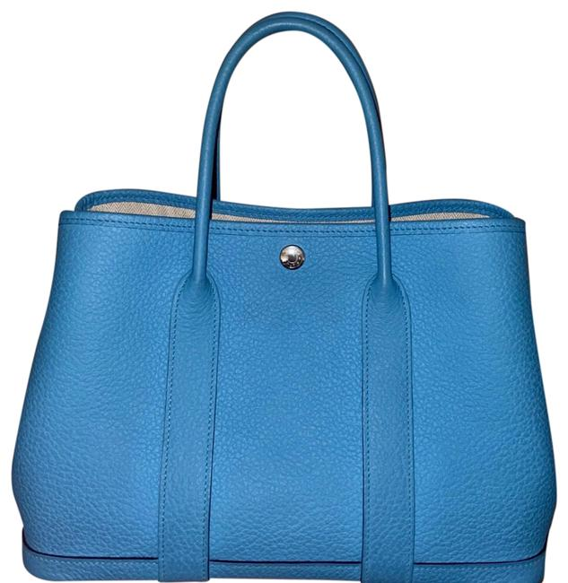 Item - Garden Party 30cm Turquoise Country Leather Tote