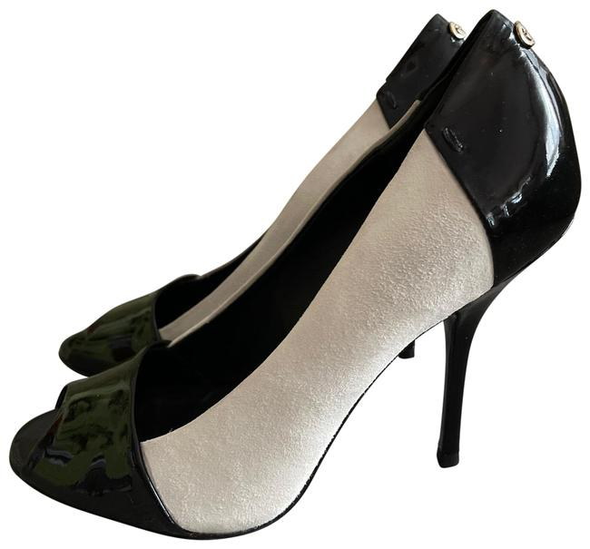 Item - Black/White Patent Leather with Suede Leather Pumps Size US 6 Regular (M, B)
