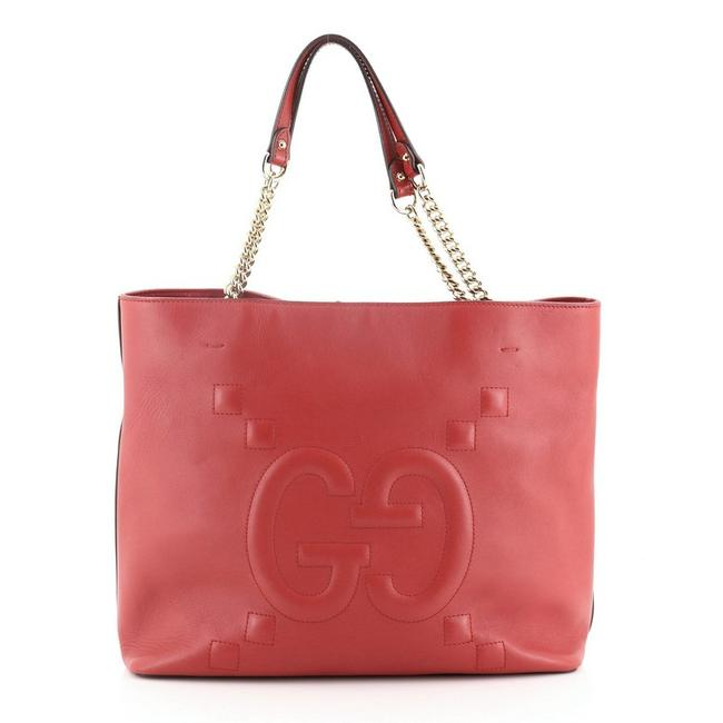 Item - Apollo ghost Embossed Large Red Leather Tote