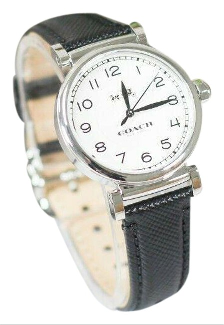 Item - Black Madison Women's Silver Stainless Steel Leather (14502406) Watch