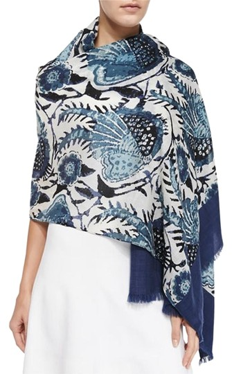 Preload https://item5.tradesy.com/images/tory-burch-wool-navy-bird-of-paradise-scarfwrap-2844589-0-2.jpg?width=440&height=440