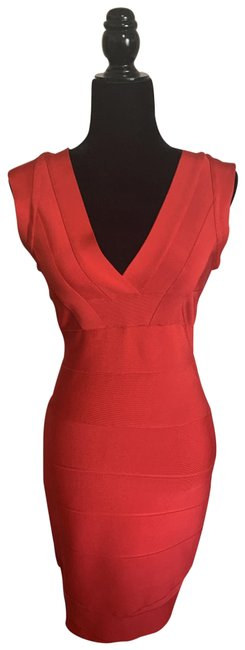 Item - Blood Orange Mid-length Cocktail Dress Size 4 (S)