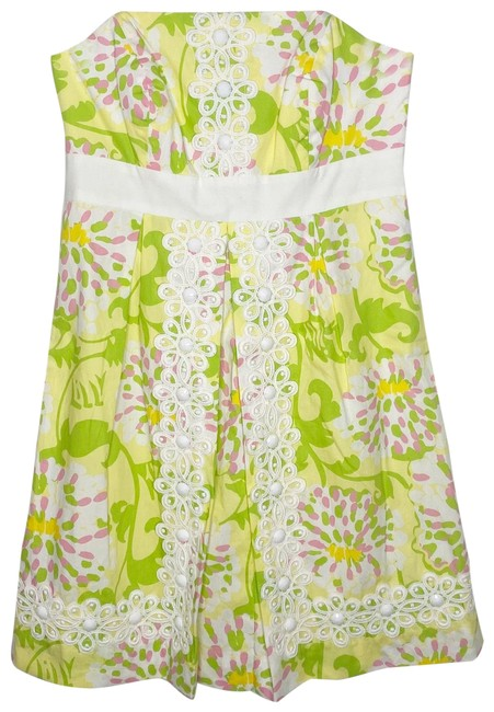 Item - Yellow Green In The Leaves Short Casual Dress Size 0 (XS)