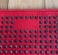 Alexander McQueen Studded Red Leather Clutch Alexander McQueen Studded Red Leather Clutch Image 4
