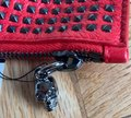 Alexander McQueen Studded Red Leather Clutch Alexander McQueen Studded Red Leather Clutch Image 6