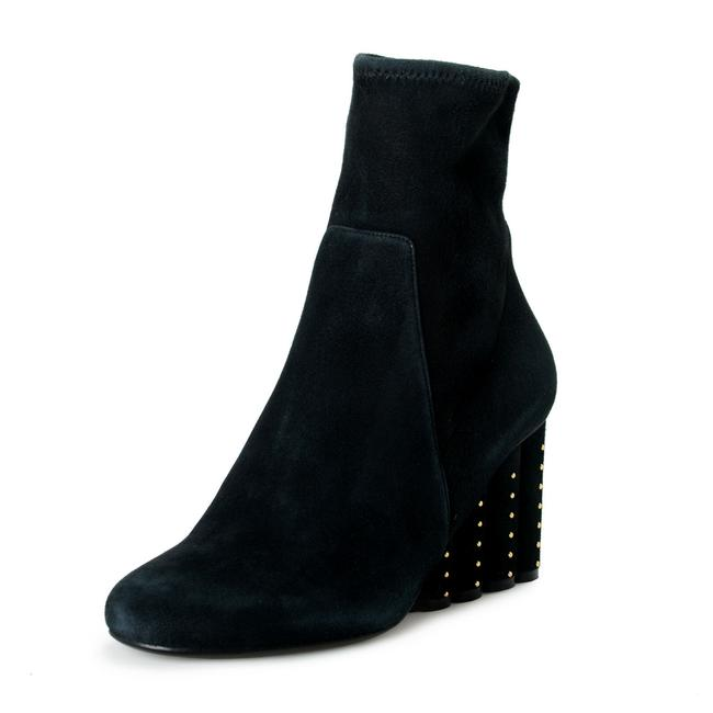 """Item - Black Women's """"Gallio"""" Suede Leather High Boots/Booties Size US 10 Wide (C, D)"""