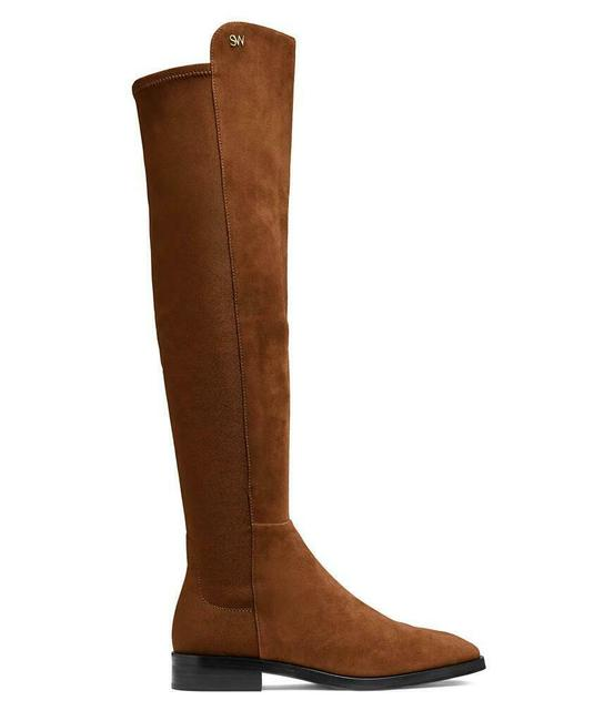 Item - Coffee Brown W Suede Just-over-the-knee W/Logo Eu 38/Us 7.5b Boots/Booties Size US 7.5 Regular (M, B)