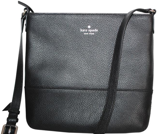 Item - Southport Avenue Cora Purse Black Silver Leather Cross Body Bag