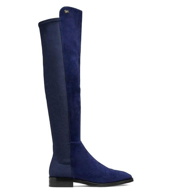 Item - Dark Blue W Keelan Suede Just-over-the-knee W/Logo Eu 37/Us 6.5b Boots/Booties Size US 6.5 Regular (M, B)
