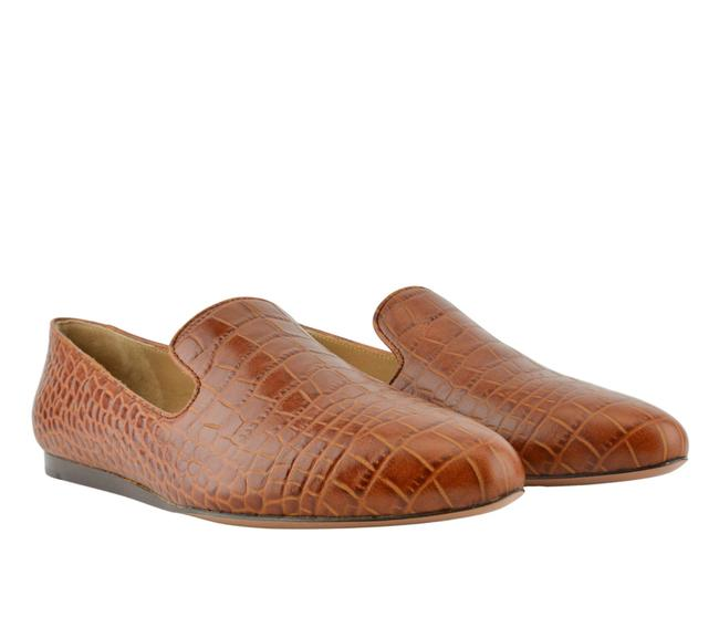 Item - Brown Embossed Loafers Flats Size US 5.5 Regular (M, B)