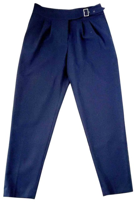 Item - Blue Anthropologie Pleated Belted Pants Size 6 (S, 28)
