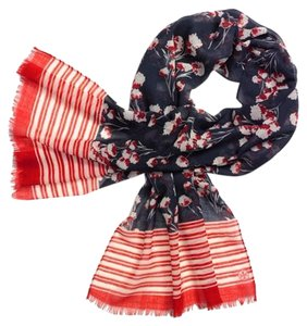 Tory Burch Field Flowers Wool Oblong Scarf NWT