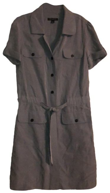 Item - Olive Safari Mid-length Short Casual Dress Size 4 (S)