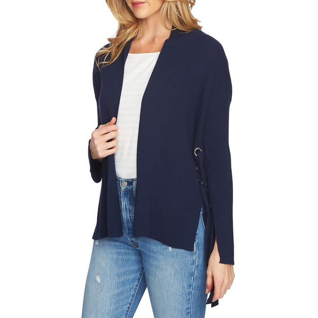 Item - Side Lace-up Cardigan Navy Blue Sweater
