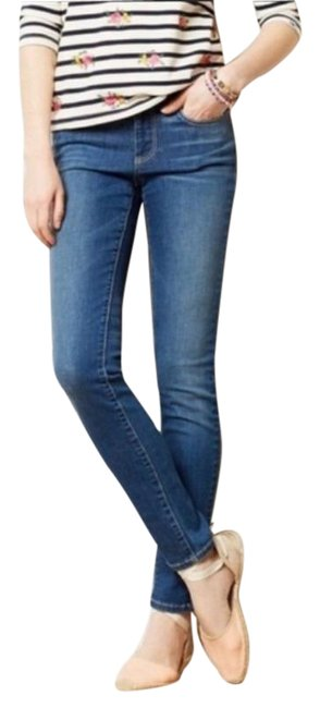 Item - Pilcro and The Letterpress Blue Medium Wash Serif Skinny Jeans Size 27 (4, S)