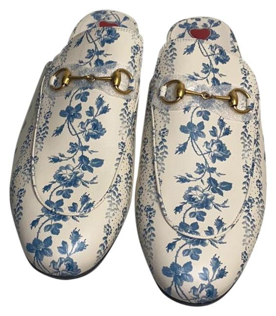 Item - White and Blue 505511 Mules/Slides Size EU 42 (Approx. US 12) Regular (M, B)