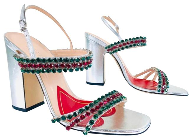 Item - Sliver Red Green 549613 Formal Shoes Size EU 37.5 (Approx. US 7.5) Regular (M, B)