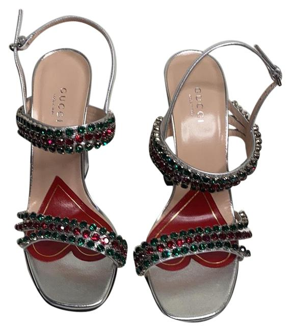 Gucci Sliver Red Green 549613 Formal Shoes Size EU 37.5 (Approx. US 7.5) Regular (M, B) Gucci Sliver Red Green 549613 Formal Shoes Size EU 37.5 (Approx. US 7.5) Regular (M, B) Image 2