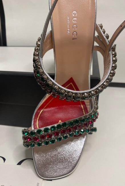 Gucci Sliver Red Green 549613 Formal Shoes Size EU 37.5 (Approx. US 7.5) Regular (M, B) Gucci Sliver Red Green 549613 Formal Shoes Size EU 37.5 (Approx. US 7.5) Regular (M, B) Image 11