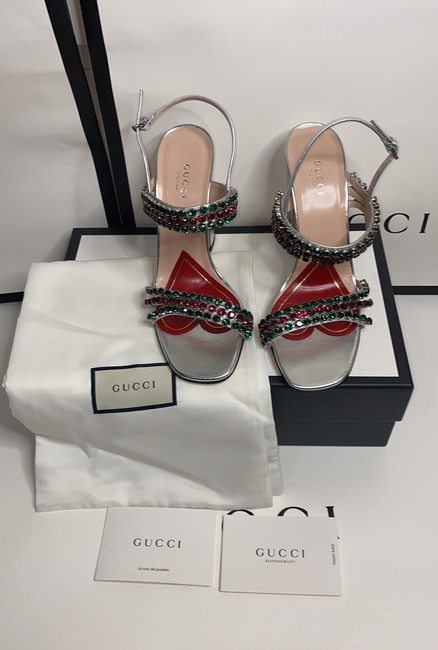 Gucci Sliver Red Green 549613 Formal Shoes Size EU 37.5 (Approx. US 7.5) Regular (M, B) Gucci Sliver Red Green 549613 Formal Shoes Size EU 37.5 (Approx. US 7.5) Regular (M, B) Image 3