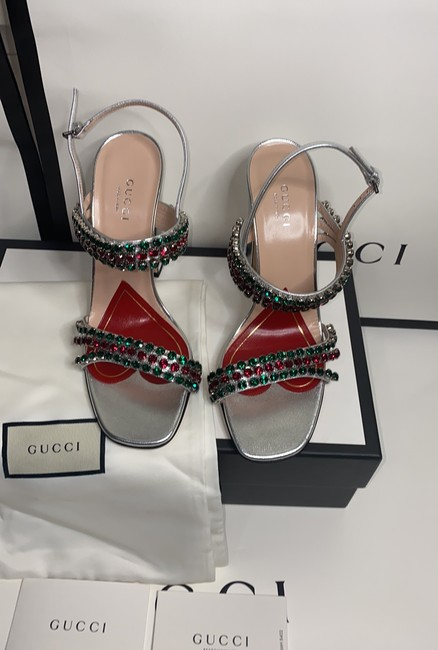 Gucci Sliver Red Green 549613 Formal Shoes Size EU 37.5 (Approx. US 7.5) Regular (M, B) Gucci Sliver Red Green 549613 Formal Shoes Size EU 37.5 (Approx. US 7.5) Regular (M, B) Image 4