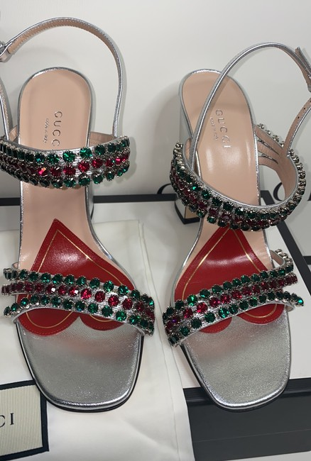 Gucci Sliver Red Green 549613 Formal Shoes Size EU 37.5 (Approx. US 7.5) Regular (M, B) Gucci Sliver Red Green 549613 Formal Shoes Size EU 37.5 (Approx. US 7.5) Regular (M, B) Image 5