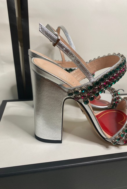 Gucci Sliver Red Green 549613 Formal Shoes Size EU 37.5 (Approx. US 7.5) Regular (M, B) Gucci Sliver Red Green 549613 Formal Shoes Size EU 37.5 (Approx. US 7.5) Regular (M, B) Image 7